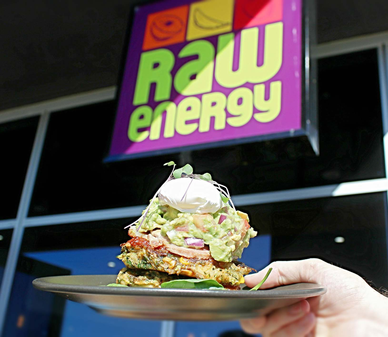 Raw Energy brekky stack