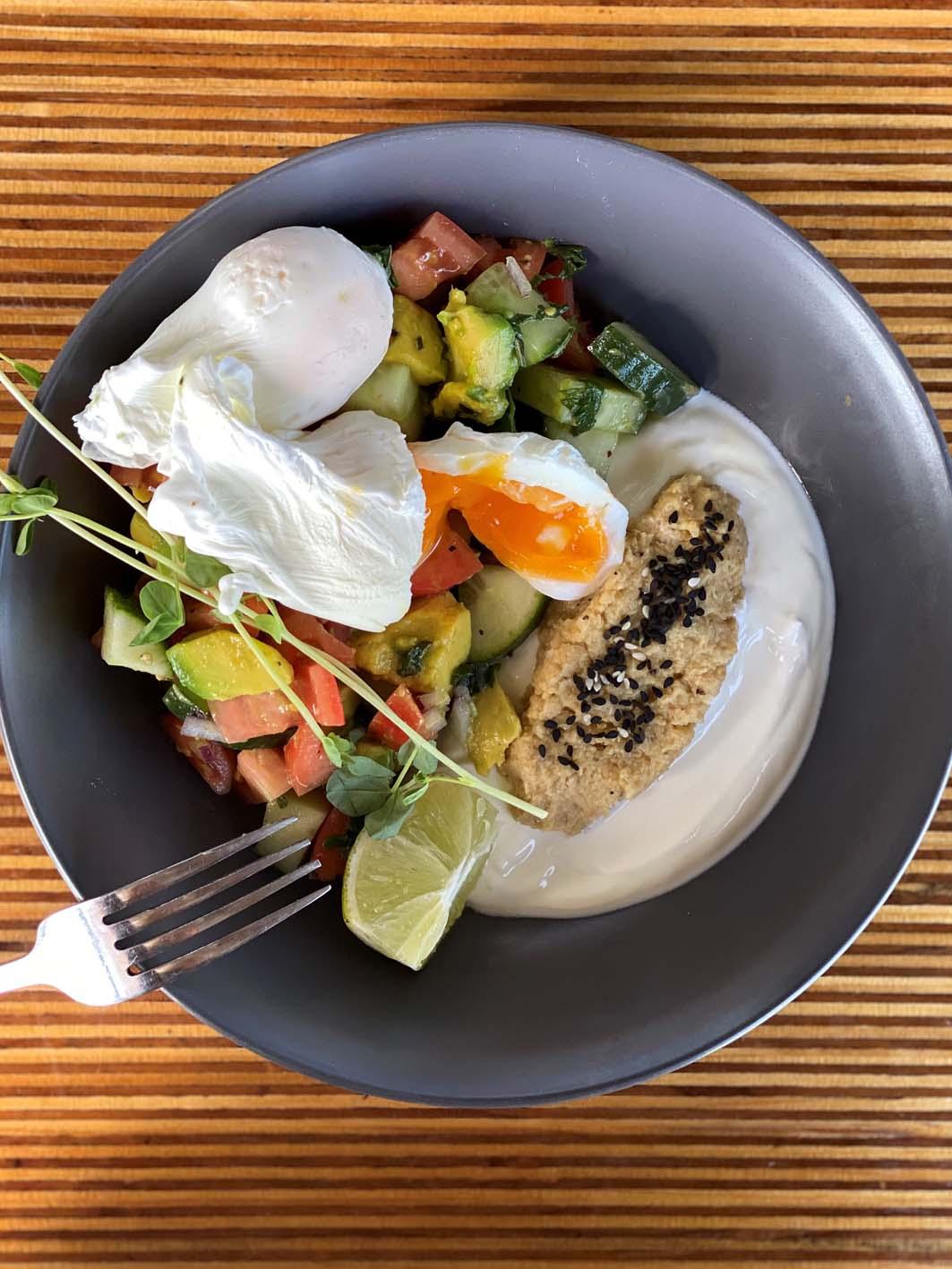 Turkish eggs at Raw Energy