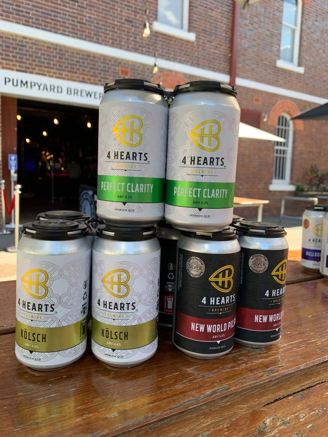 4 Hearts Brewing canned beer range
